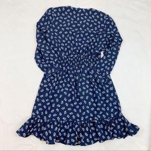 Draper James Dresses - Draper James Floral Peasant dress v neck ruffle